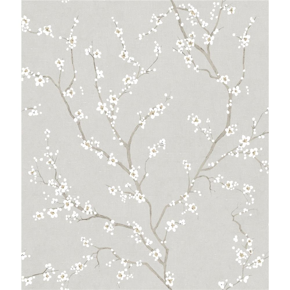 RoomMates by York RMK11270WP Grey Cherry Blossom Peel & Stick Wallpaper