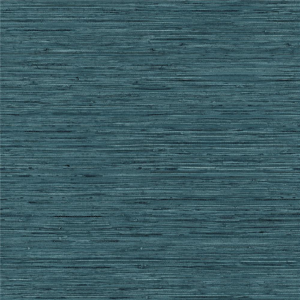 RoomMates by York RMK11314WP Grasscloth Blue Peel & Stick Wallpaper