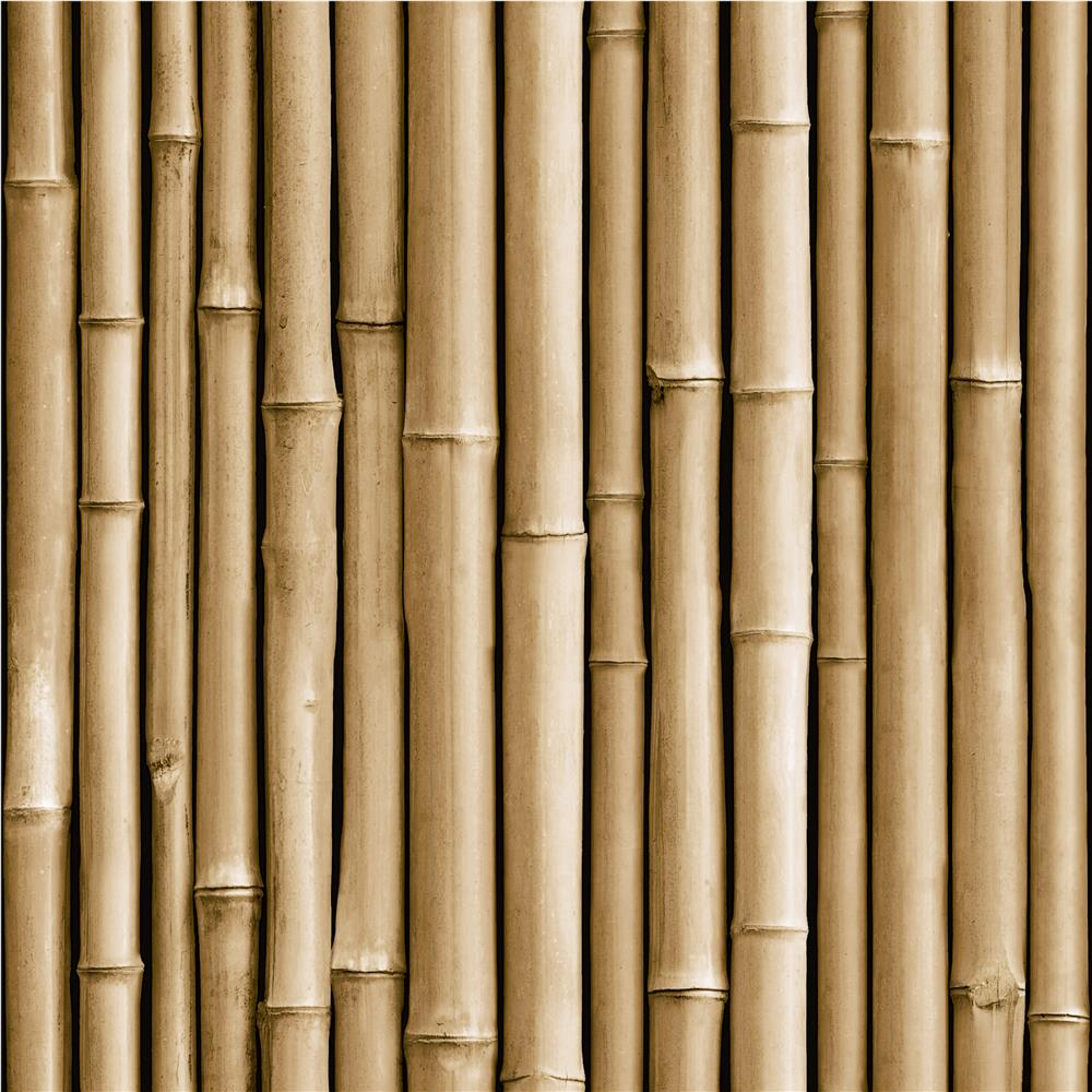 RoomMates by York RMK11434WP Bamboo Peel & Stick Wallpaper In Brown
