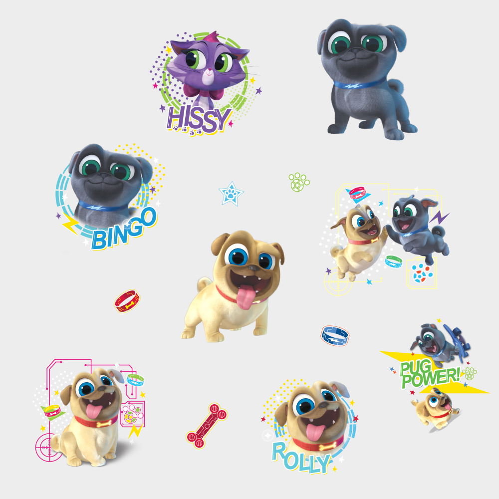 Roommates by York RMK3776SCS Puppy Dog Pals Peel And Stick Wall Decals