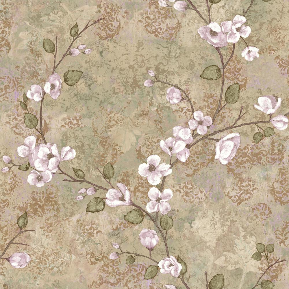 York TB4313 Charlotte Dogwood Wallpaper