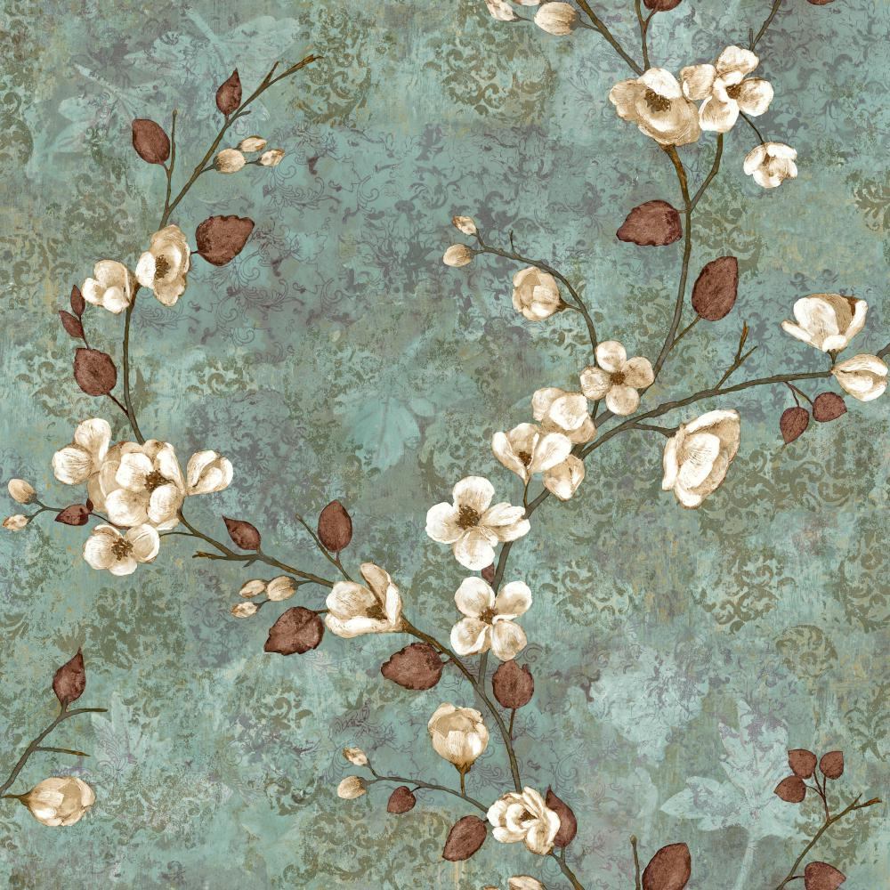 York TB4314 Charlotte Dogwood Wallpaper