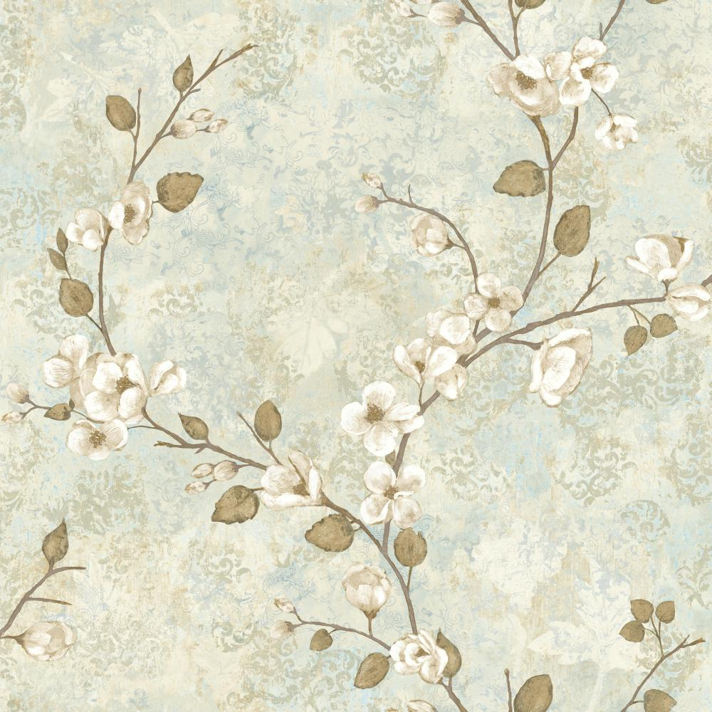 York TB4315 Charlotte Dogwood Wallpaper