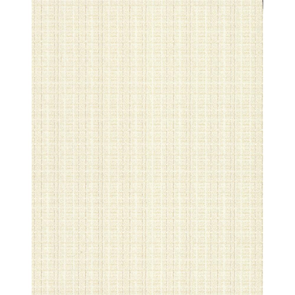 750 Home by York TN0017 Woven Crosshatch Wallpaper - White