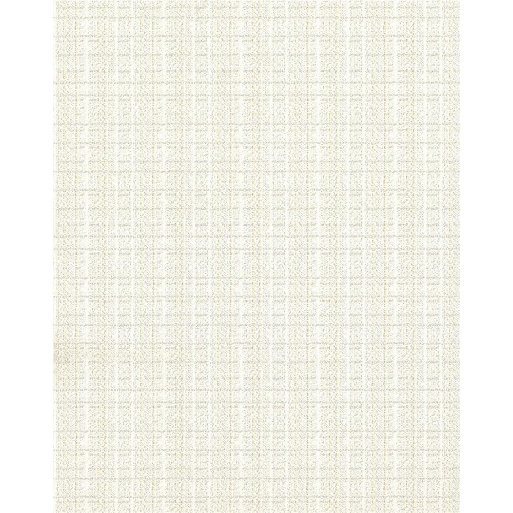 750 Home by York TN0019 Woven Crosshatch Wallpaper - Ivory