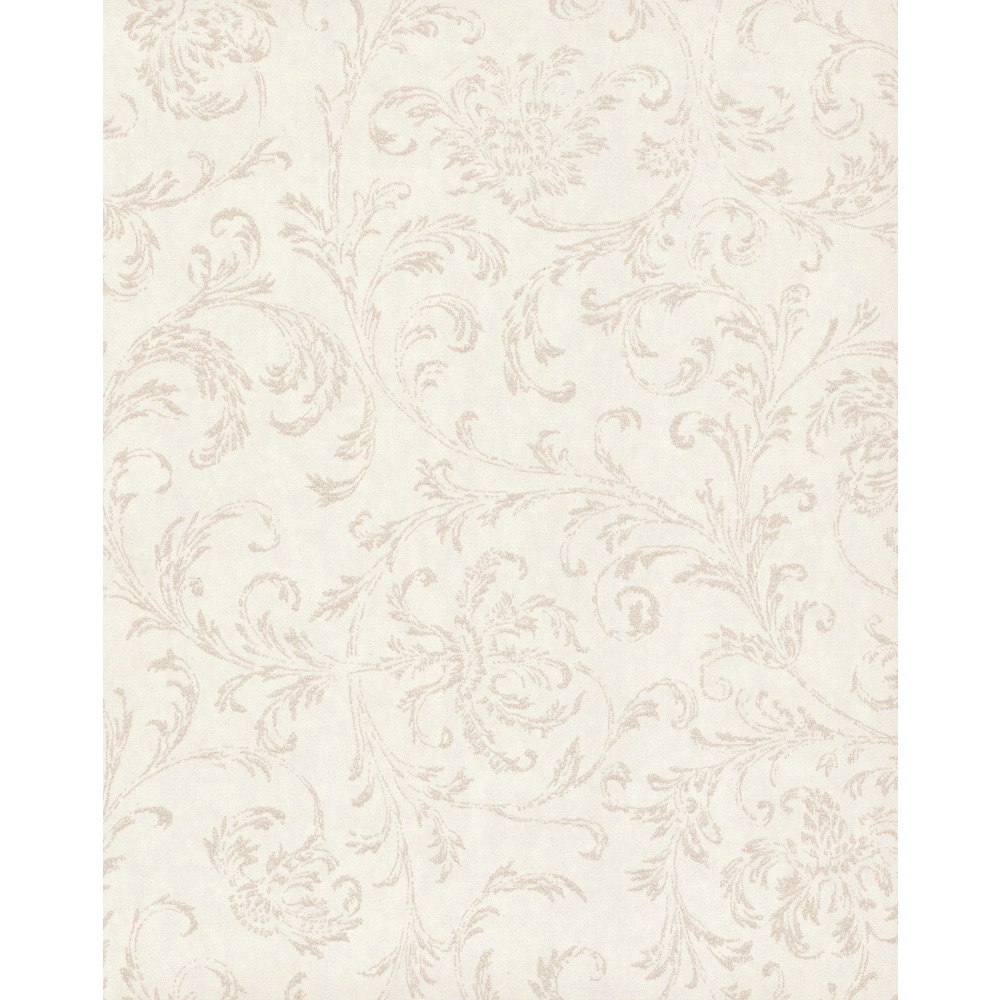 750 Home by York TN0036 Delicate Scroll Wallpaper - White