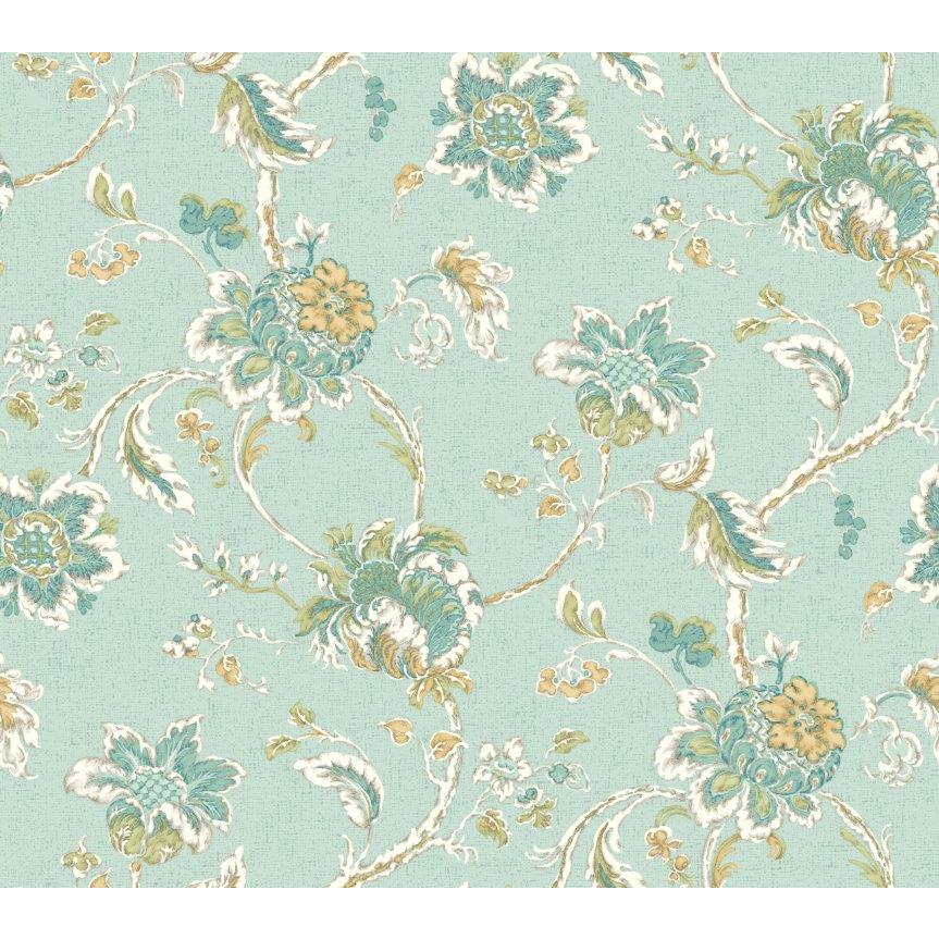 York WC7521 Waverly Classics II Arbor Imagery Removable Wallpaper in Blues