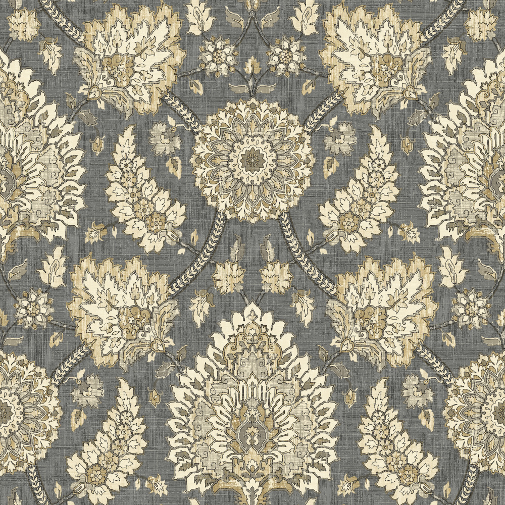 York WC7573 Waverly Classics II Clifton Hall Removable Wallpaper in Blacks