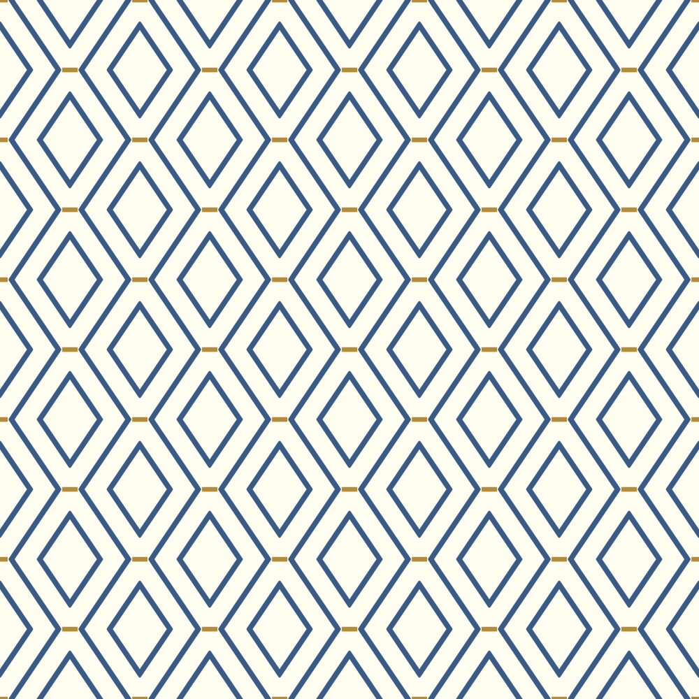 York WC7581 Waverly Classics II Diamond Duo Removable Wallpaper in Blues