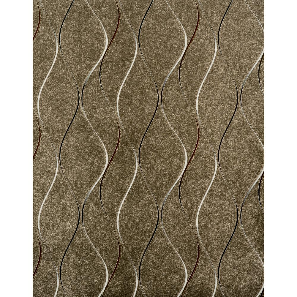 York Designer Series Y6201406 Dazzling Dimensions Wavy Stripe Soft Gold Silver Contemporary