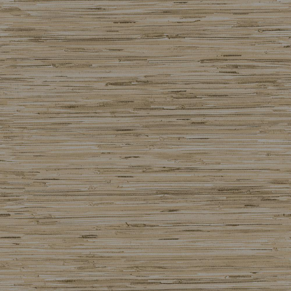 York Designer Series Y6201604 Dazzling Dimensions Lustrous Grasscloth Sand Silver Tan Grass Cloth