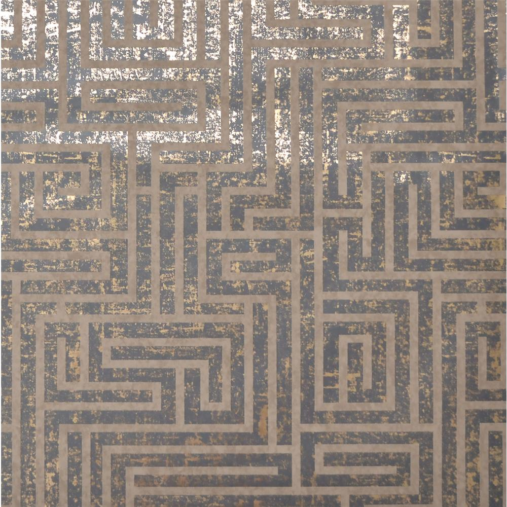 York Wallcoverings Y6220204 Mid Century A-Maze Wallpaper - Charcoal