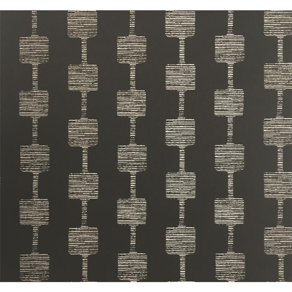 York Wallcoverings Y6220403 Mid Century Micro Mini Wallpaper - Black/Glint