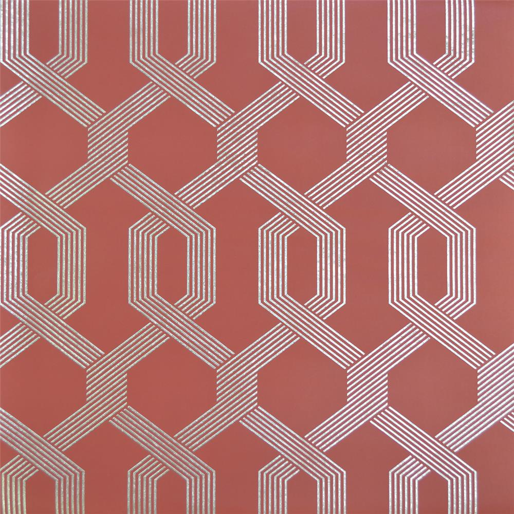 York Wallcoverings Y6221203 Mid Century Viva Lounge Wallpaper - Red