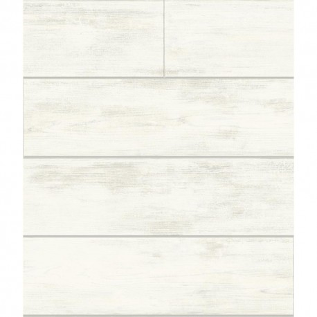 York Designer MH1560 Magnolia Home Shiplap Removable Wallpaper in white/gray