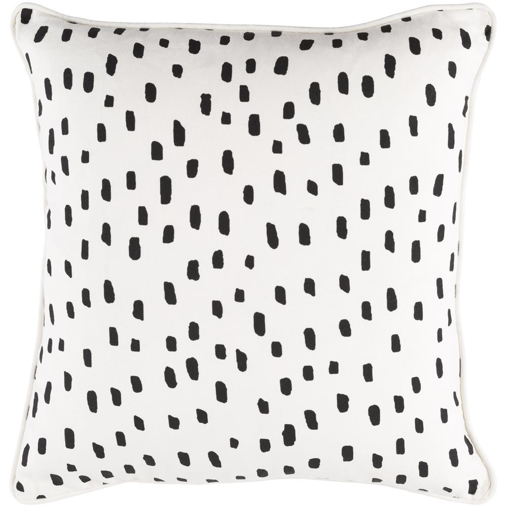 Artistic Weavers GLYP7074 Glyph Dalmatian Dot Pillow Cover and Down Insert 18