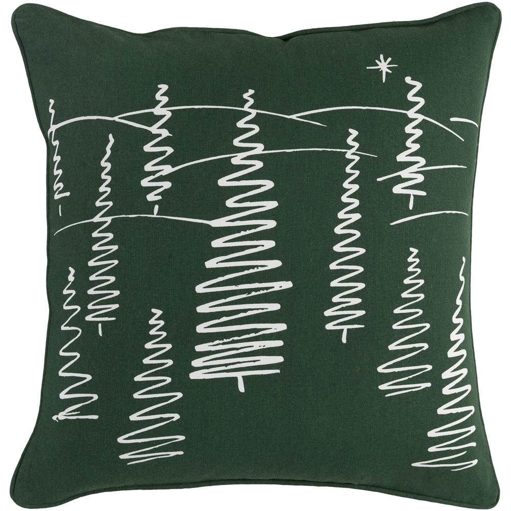 Artistic Weavers HOLI7263 Holiday Evergreen Pillow Cover and Down Insert 18