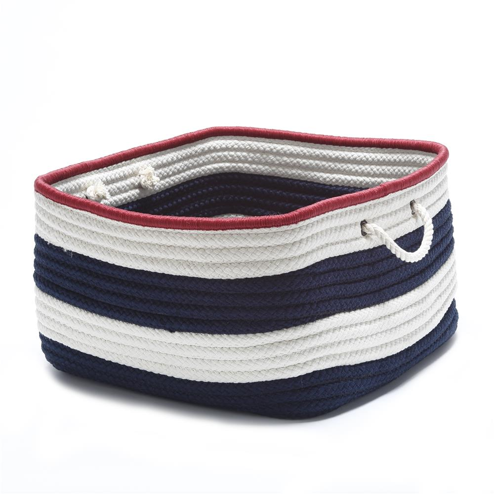 Colonial Mills AU01A018X018S Nautical Stripe Navy/Red RECT 18x18x12