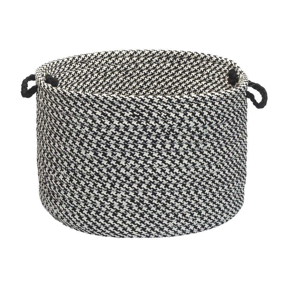 "Colonial Mills OT49A018X018 Outdoor Houndstooth Tweed - Black 18""x12"" Utility Basket"