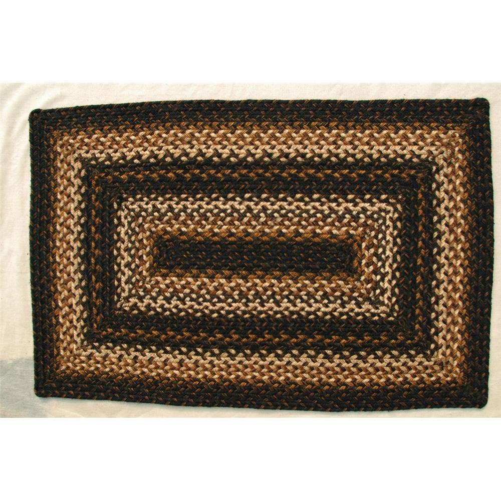 Homespice Décor Kilimanjaro  20 In. X 30 In. Rectangular Jute Braided Rug in Brown