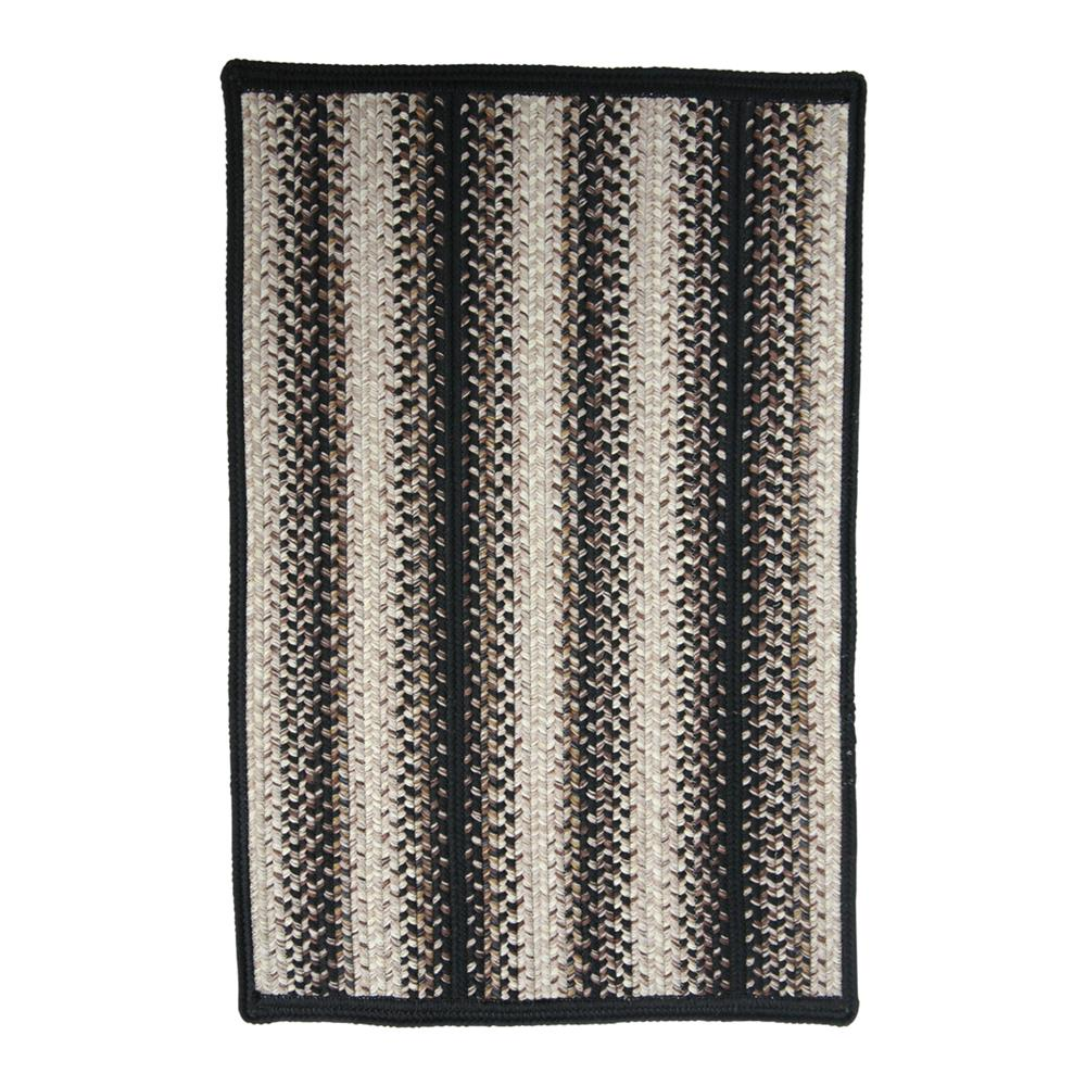 "Homespice Décor 341716 20"" x 30"" Onyx Indoor/Outdoor Braided Mat"