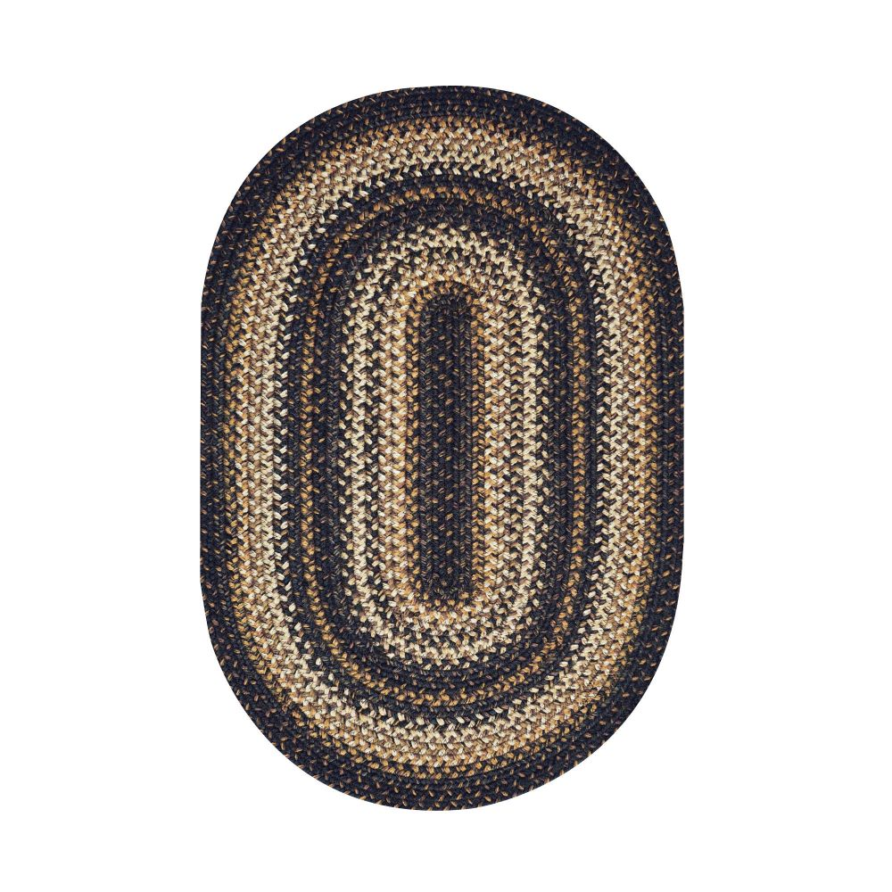 Homespice Décor Kilimanjaro  20 In. X 30 In. Oval Jute Braided Rug in Brown