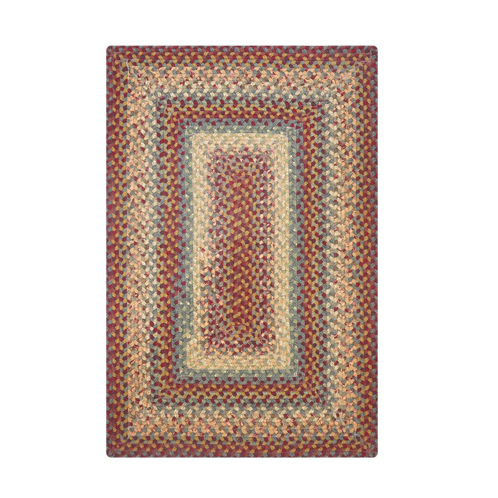 Homespice Décor Neverland  27 In. X 45 In. Rectangular Cotton Braided Rug in Red
