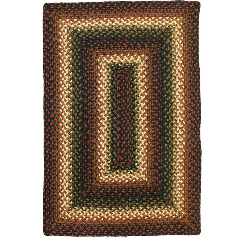 Homespice Décor Prescott  20 In. X 30 In. Oval Jute Braided Rug in Black