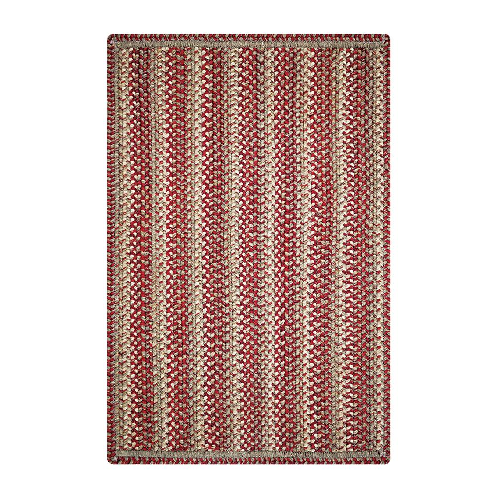 "Homespice Rugs 322944 20 x 30"" Sienna Ultra Durable Braided Rug in Red"