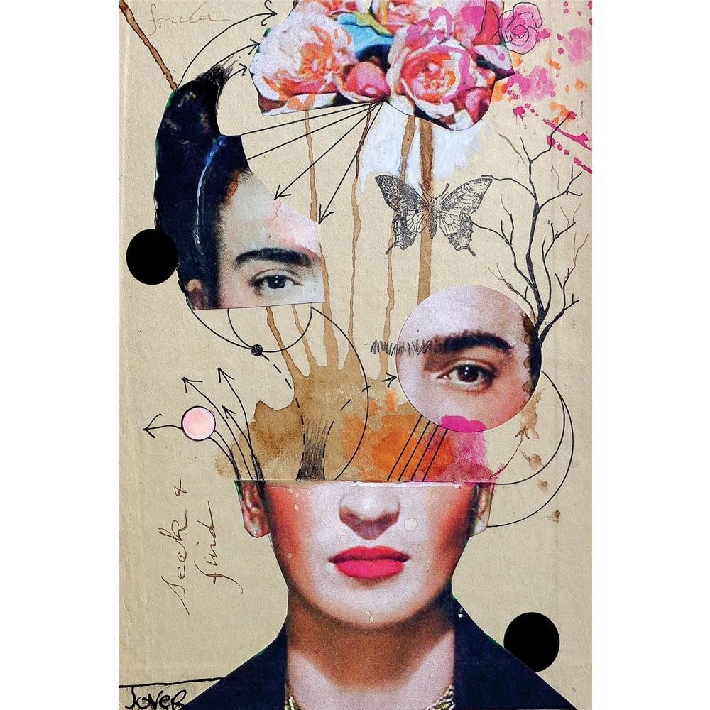 iCanvas LJR148-1PC3-18x12 Frida For Beginners by Loui Jover
