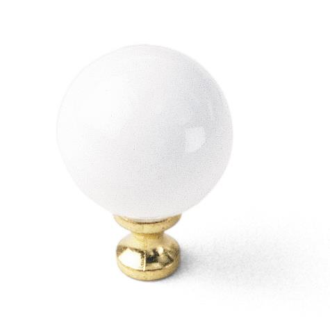 "Laurey 01942 1 1/4"" Porcelain Knob - White Ball in the Porcelain Knobs collection"