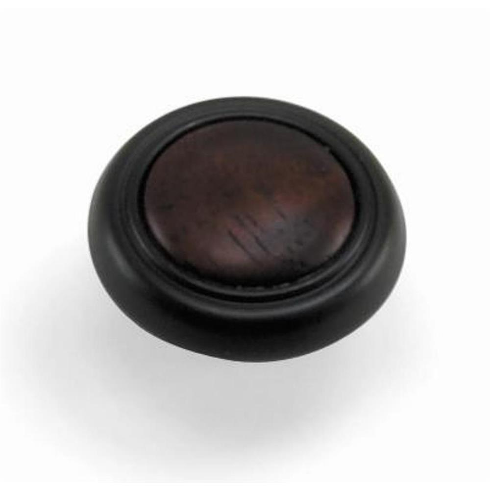"Laurey 15463 1 1/4"" First Family Knob-Oil Rubbed Bronze w/Cherry Insert in the First Family collection"