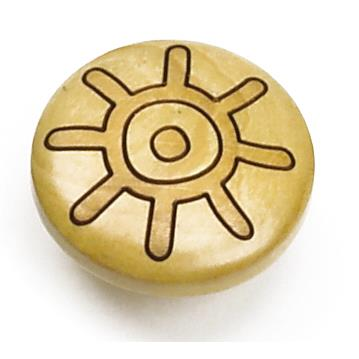 "Laurey 30812 1 3/8"" Tonga Round Wood Knob - Maple Sun in the Tonga collection"