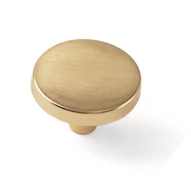 "Laurey 34537 1 1/4"" Tech Knob - Polished Brass in the Tech collection"
