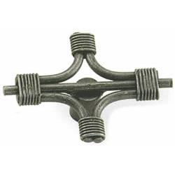 "Laurey 51206 2"" Steel Cable Knob - Antique Pewter  in the Nantucket collection"