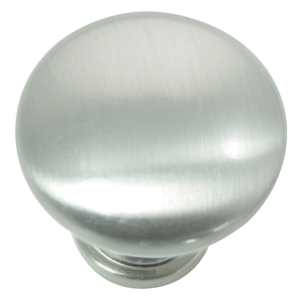 "Laurey 54628 1 3/8"" Hollow Steel Knob - Brushed Satin Nickel"