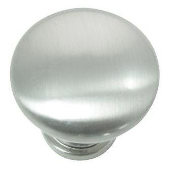 "Laurey 59905 1 3/8"" Steel Hollow Knob - Brushed Satin Nickel - 10 pc - Value Pack (54628)"