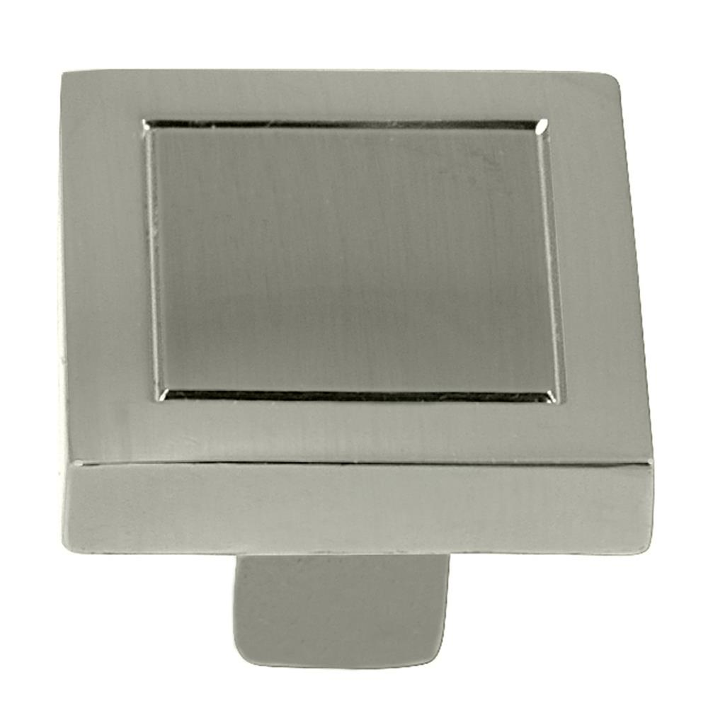 "Laurey 72828 7/8"" Square Knob - Cosmo - Satin Nickel"