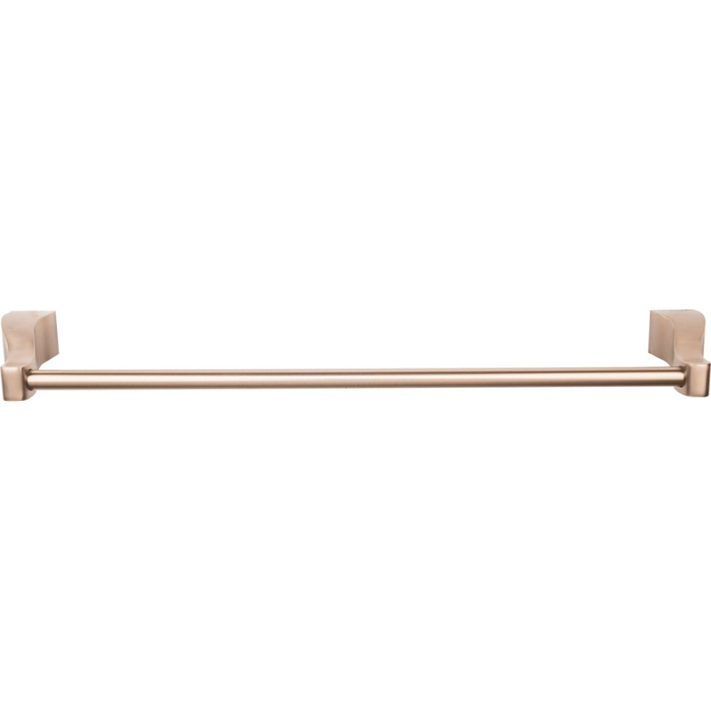 "Top Knobs AQ6BB Aqua Bath 18"" Single Towel Bar - Brushed Bronze"