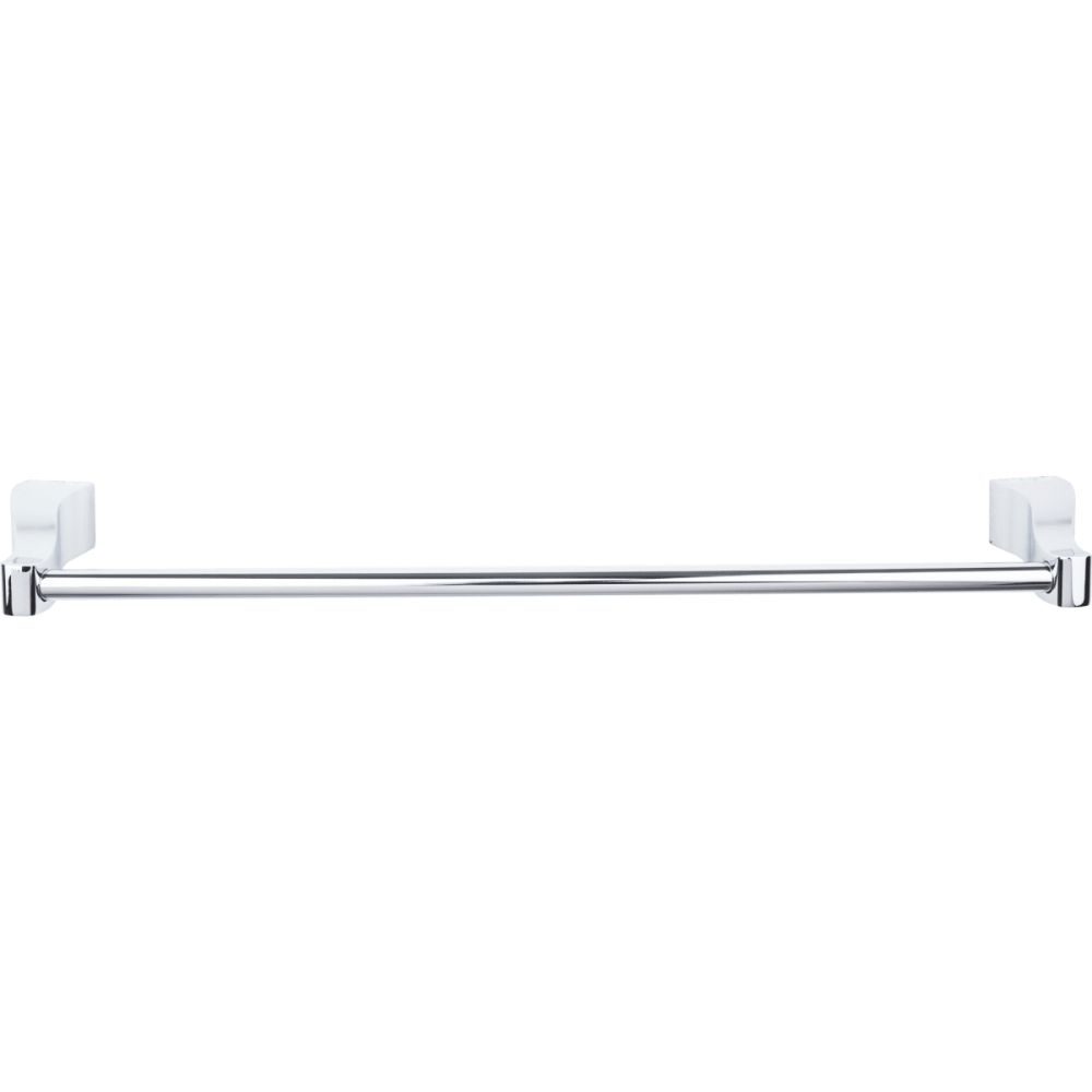 "Top Knobs AQ6PC Aqua Bath 18"" Single Towel Bar - Polished Chrome"