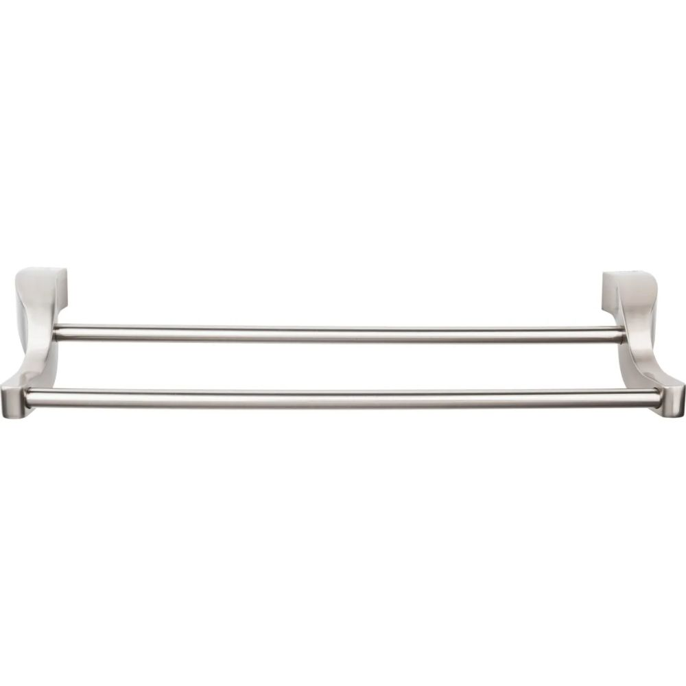 "Top Knobs AQ7BSN Aqua Bath 18"" Double Towel Bar - Brushed Satin Nickel"