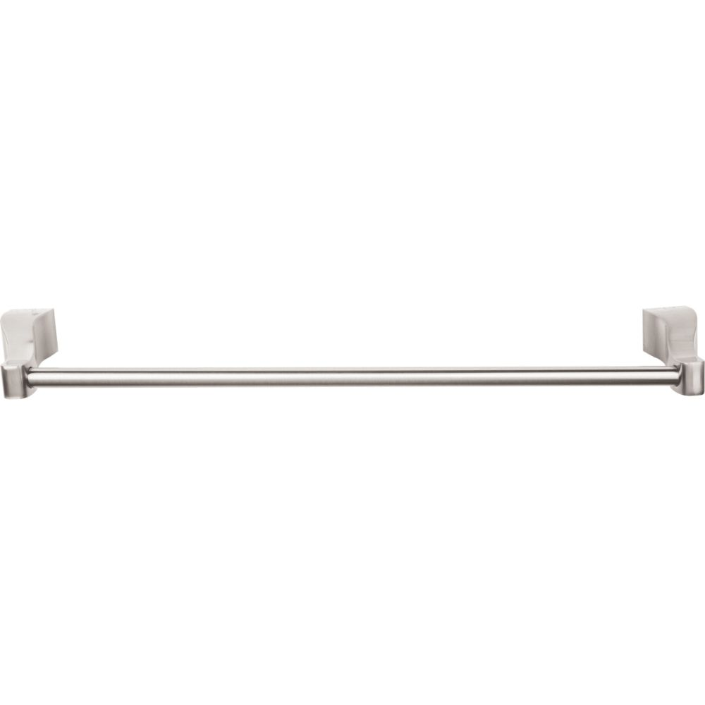 "Top Knobs AQ8BSN Aqua Bath 24"" Single Towel Bar - Brushed Satin Nickel"