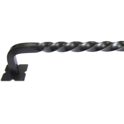 "Top Knobs M1246-24 Normandy Twist Appliance Pull 24"" (c-c) - Patina Black"