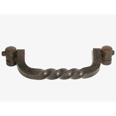 "Top Knobs M642 Twist Drop Pull 3 3/4"" (c-c) - Patina Rouge"