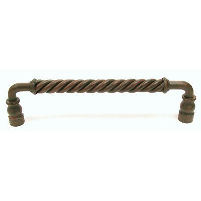 "Top Knobs M672 Twisted Bar Pull 8"" (c-c) - Patina Rouge"