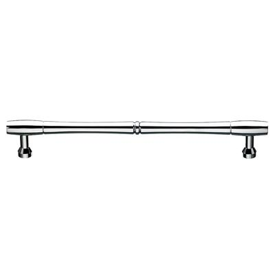 "Top Knobs M721-12 pair Nouveau Bamboo Back to Back Door Pull 12"" (c-c) - Polished Chrome"