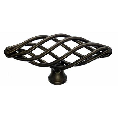 "Top Knobs M779 Oval Twist Knob Medium 3"" - Oil Rubbed Bronze"