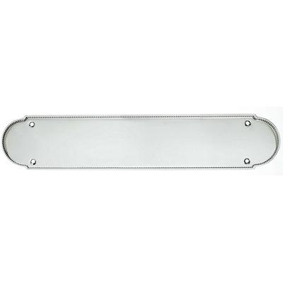 "Top Knobs M887 Beaded Push Plate 15"" - Polished Chrome"