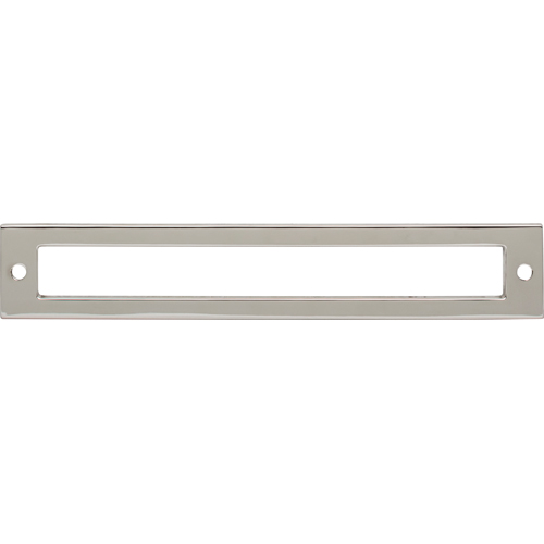 Top Knobs TK926PN Hollin Backplate 6 5/16 Inch - Polished Nickel