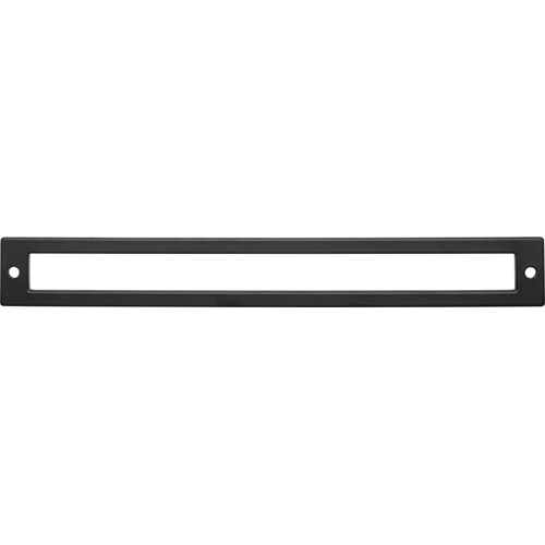 Top Knobs TK928BLK Hollin Backplate 8 13/16 Inch - Flat Black